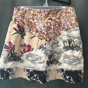 Anthropologie Mixed Print Skirt